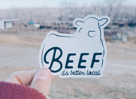 Beef Vinyl Sticker