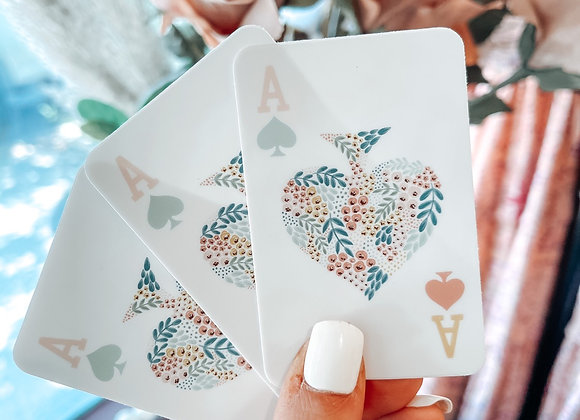 Floral Ace Card Sticker