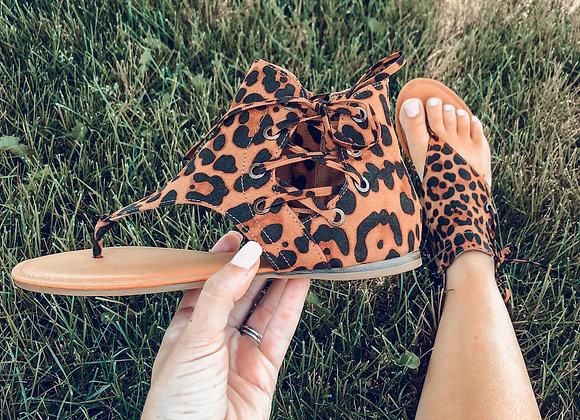 The Leopard Gladiator Sandal