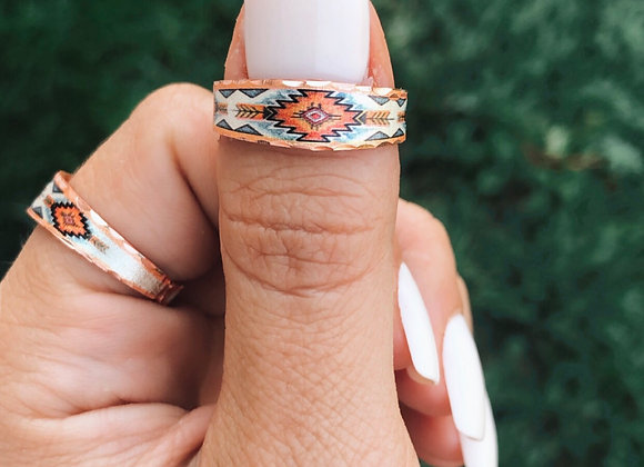The Sahara Slim Adjustable Copper Ring