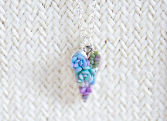 Succulent Heart Necklace