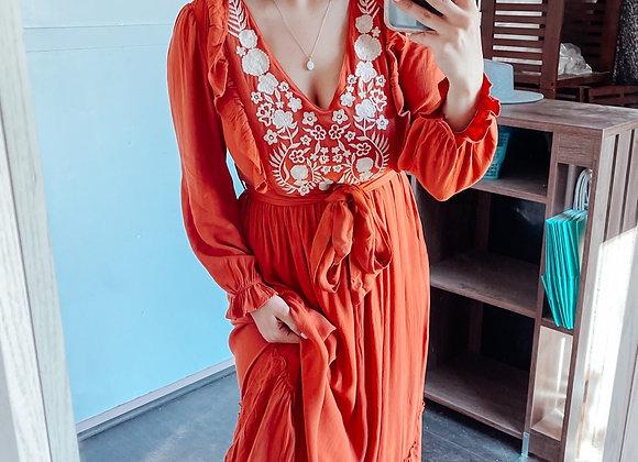 The Marianna Dress (Rust)