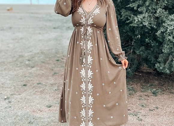 The Isabella Dress (Taupe)
