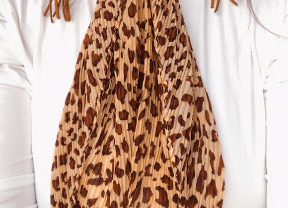 Leopard Ruffle Scarf