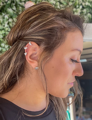 Sterling Silver Feather Ear Cuff