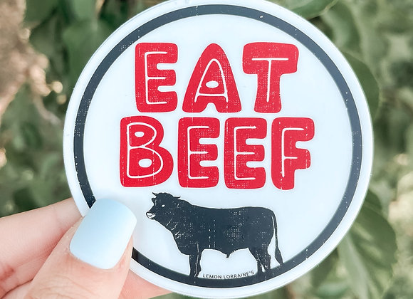 Eat Beef Sticker