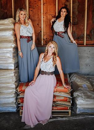 Blush Saratoga Maxi Skirt