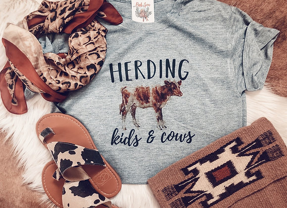 Herding Kids + Cows Tee