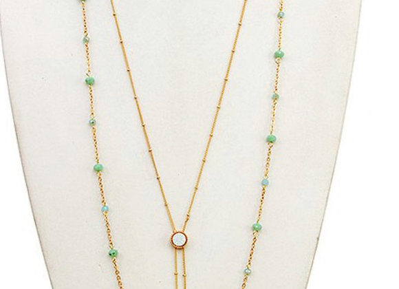 Jade Two Strand Necklace