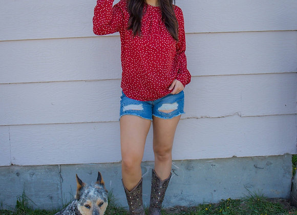 The Red Missy Top
