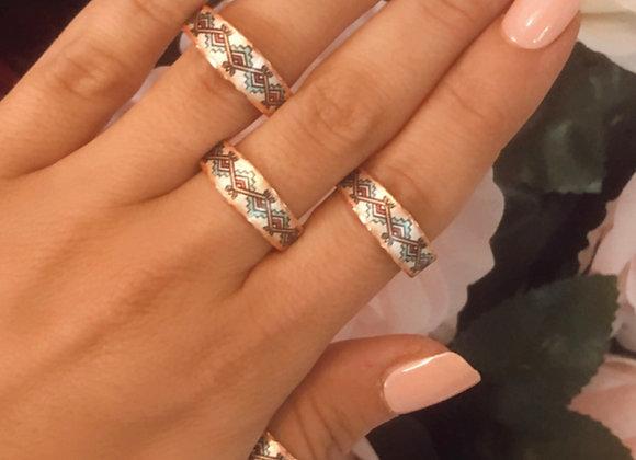 Maple Slim Adjustable Copper Ring