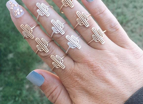Cactus Cutout Ring