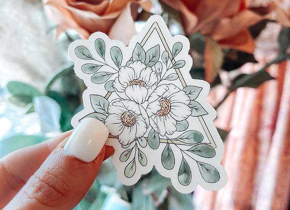 Floral Triangle Sticker