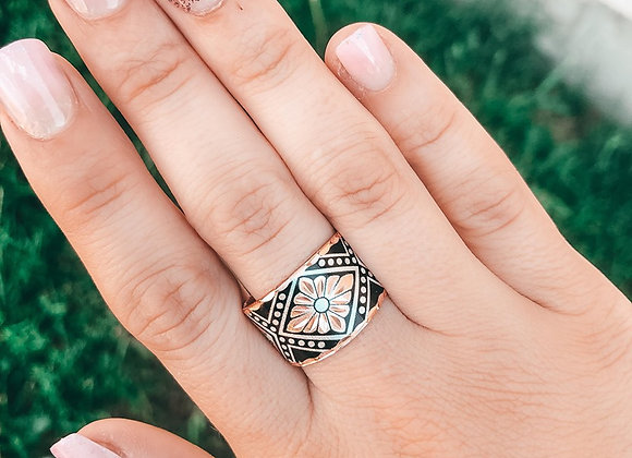 The Onyx Copper Ring