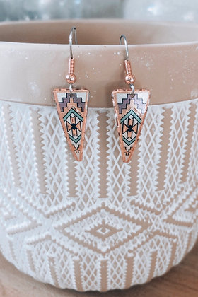 Lavender Sands Copper Earrings