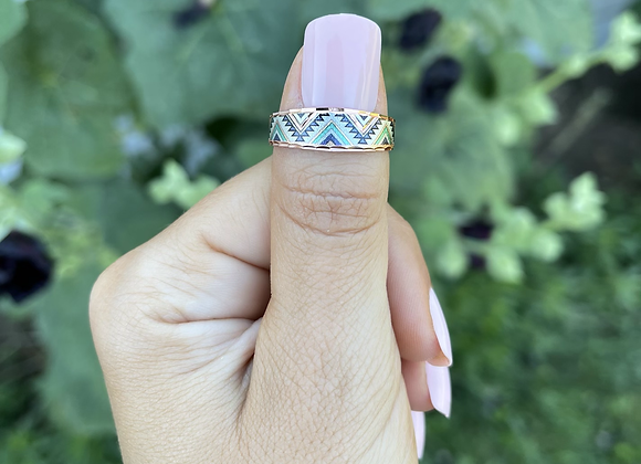 Blue Waters Slim Adjustable Copper Ring