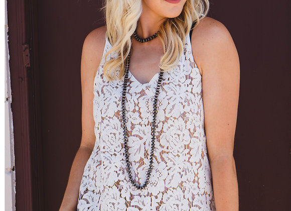 Lovely Lace Tank (White)