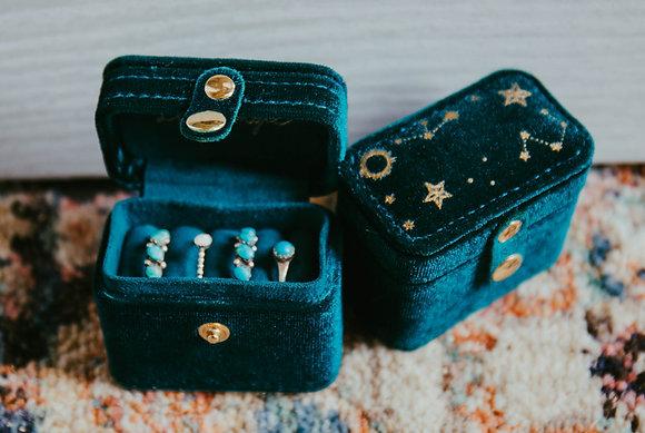 Emerald Cosmic Mini Jewelry Box