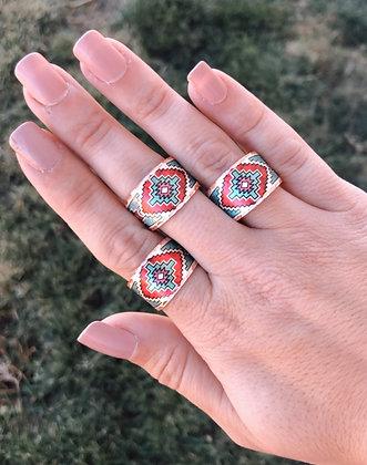 Red Sands Adjustable Copper Ring