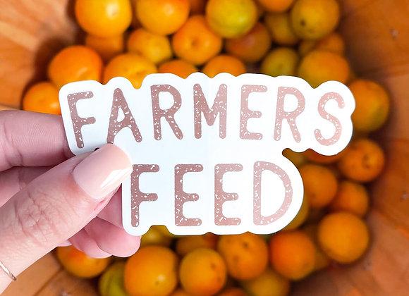 Farmers Feed Sticker