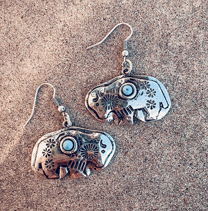 Badlands Buffalo Earrings
