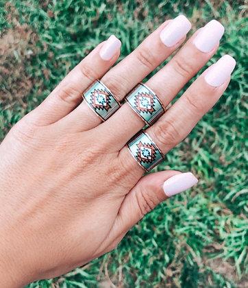Sage Summer Adjustable Copper Ring