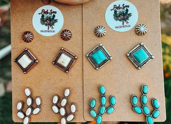 Saguaro Earring Set
