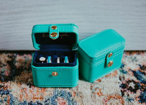 Teal Mini Jewelry Box