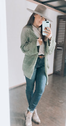 The Kinley Cardigan Olive