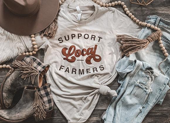 Retro Support Local Farmers Tee