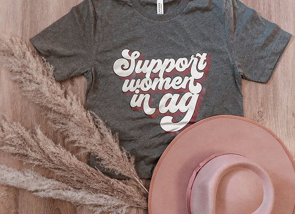 Support Women In Ag Retro Tee