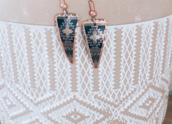 Night Sky Copper Earrings