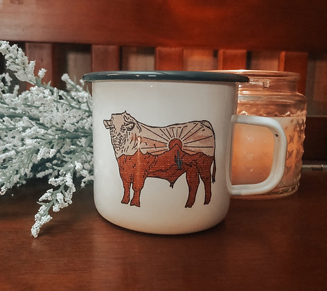 Desert Drifter Bull Campfire Mug