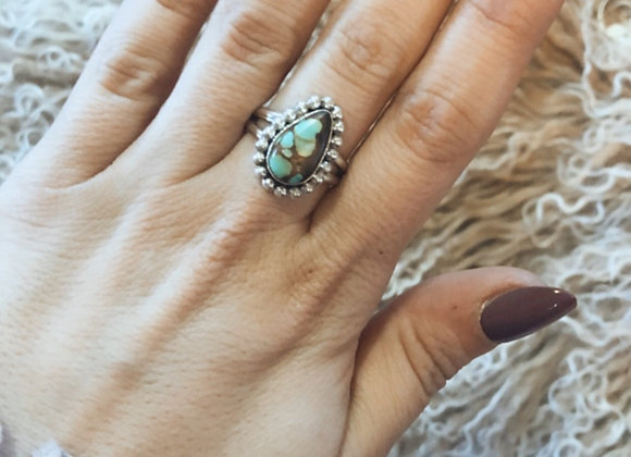 Pear Turquoise Ring Sz. 8
