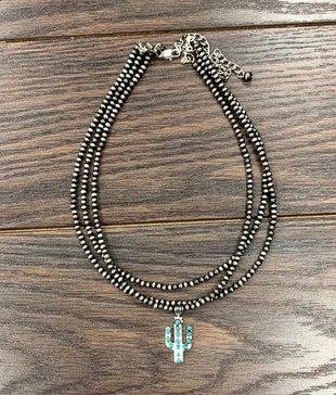 Saguaro Three Stand Necklace