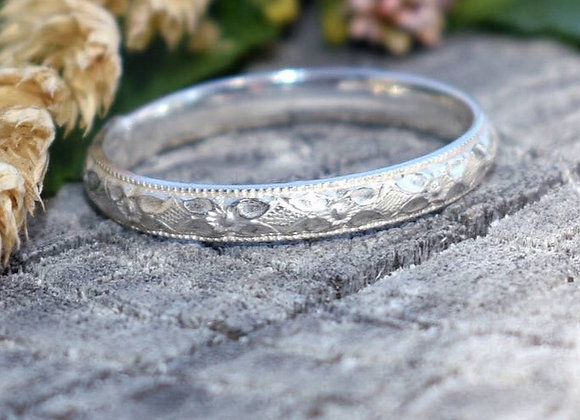 Sterling Silver Boho Stacker Ring