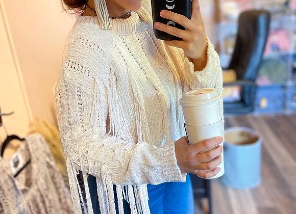 The Dallas Fringe Sweater