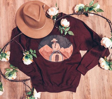 Mountain Stars Cowgirl Sweatshirt