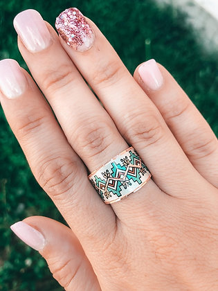 The Teal Copper Ring