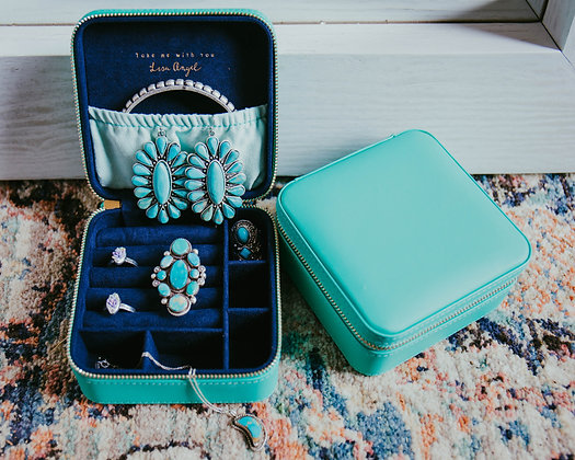 Teal Travel Jewelry Box
