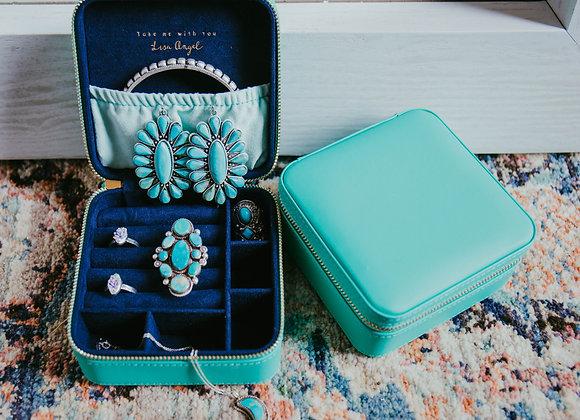 Teal Travel Jewelry Box