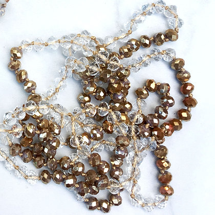 """Majesty 60"""" Hand Knotted Beads"""