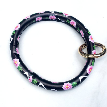 Pink Rose O Ring Keychain