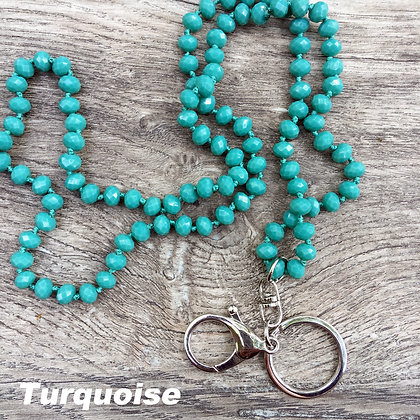 Turquoise Hand knotted Lanyard Keyring
