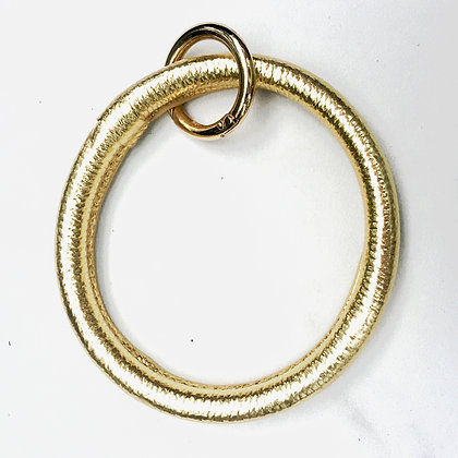 Gold O Ring Keychain