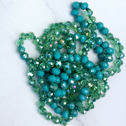 """Fern & Pine 60"""" Hand Knotted Beads"""