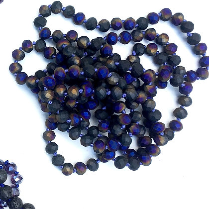"""Mardi Gras 60"""" Hand Knotted Beads"""