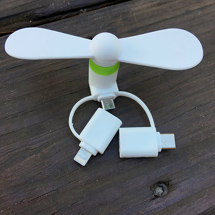 3 Way Fan - iPhone/Android/USB-C