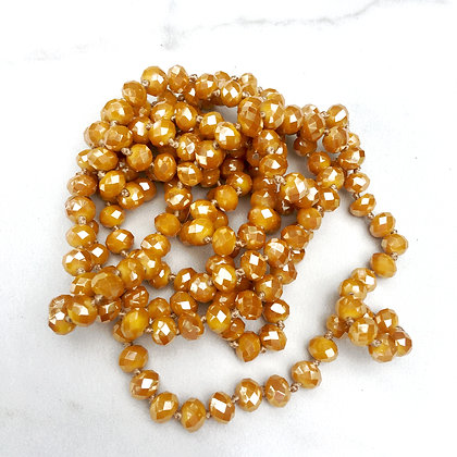 """Marigold 60"""" Hand Knotted Beads"""