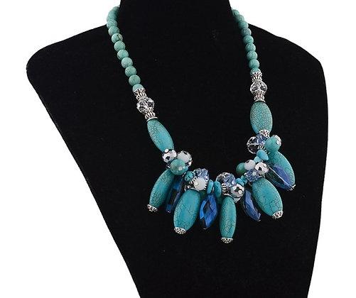 Ella Vintage Natural Stone Necklace